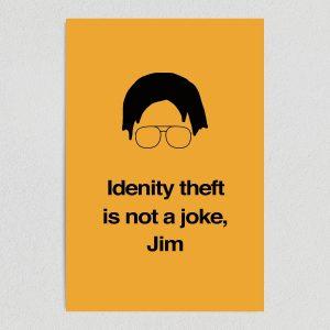 "The Office Dwight Identity Theft Art Print Poster 12"" x 18"" Wall Art TV1201"