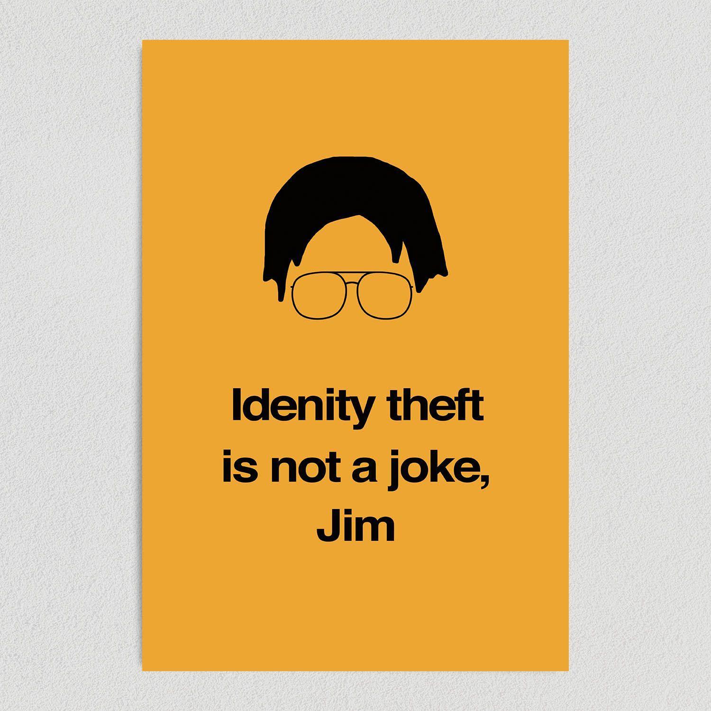 The Office Dwight Identity Theft Art Print Poster 12″ x 18″ Wall Art TV1201