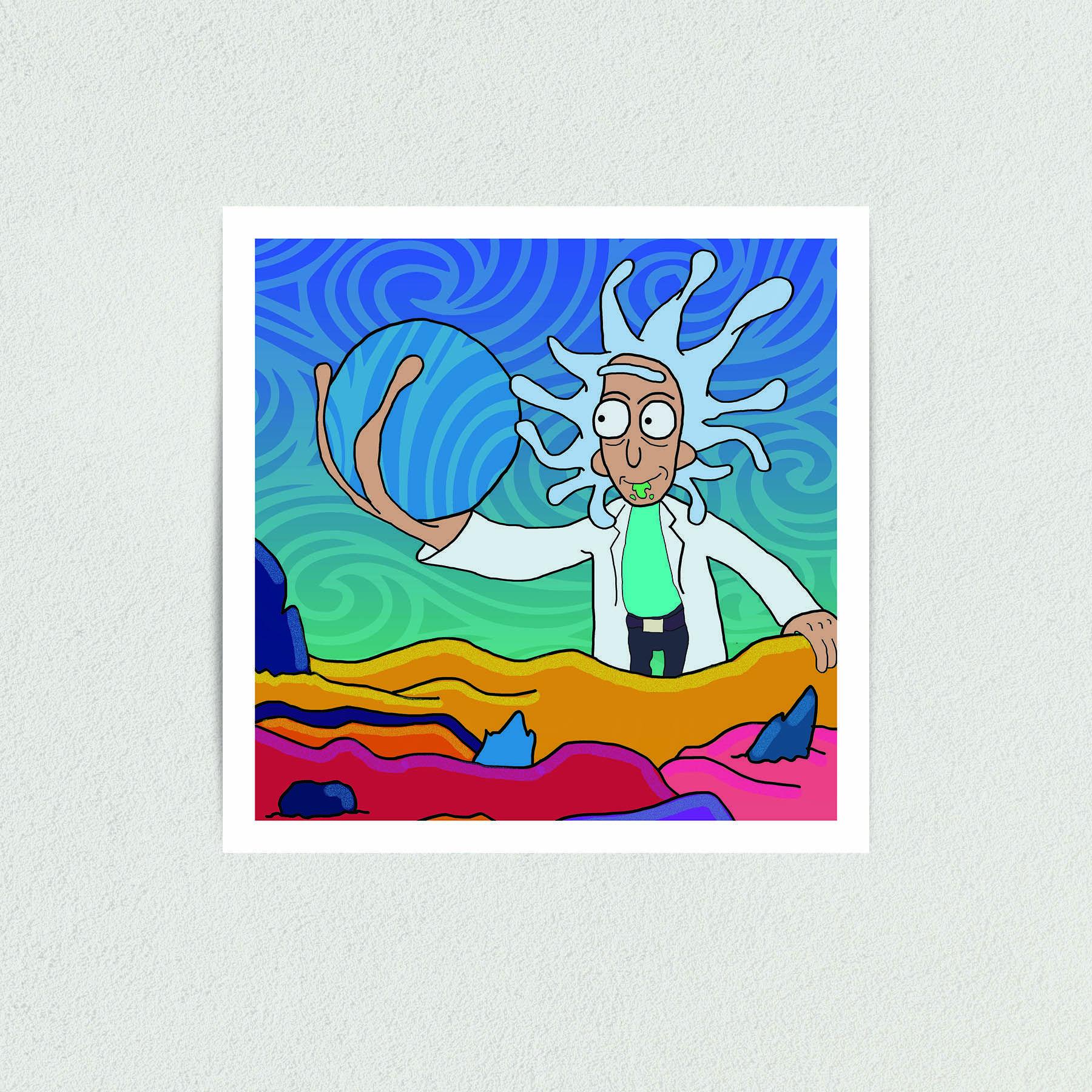 Rick and Morty Art Print Poster 12″ x 12″ Wall Art TV1301