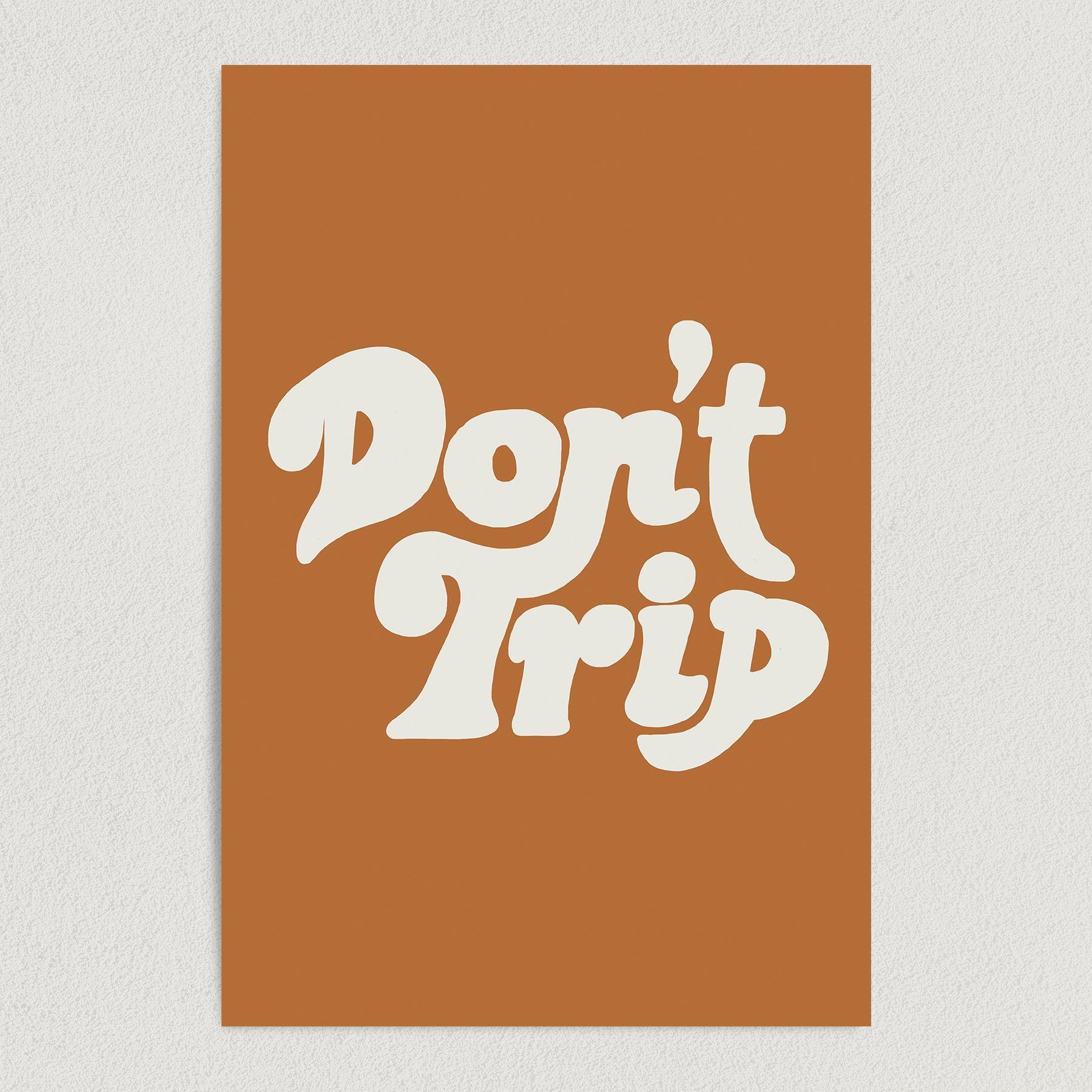Don't Trip Art Print Poster 12″ x 18″ Wall Art V2512