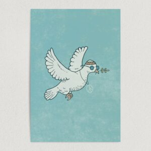 "Dove of Peace Vintage Hippie Art Print Poster 12"" x 18"" Wall Art V2900"
