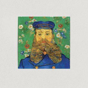 "Van Gogh Portrait of Postman Joseph Roulin 1889 Art Print Poster 12"" X 12"" Wall Art VH1010"