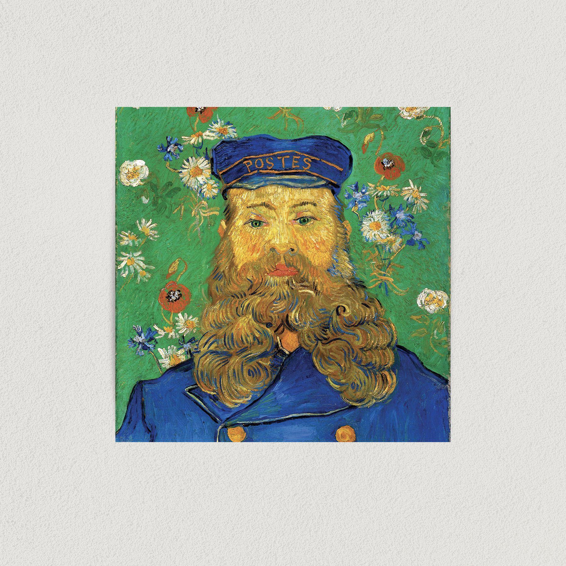 Van Gogh Portrait of Postman Joseph Roulin 1889 Art Print Poster 12″ X 12″ Wall Art VH1010