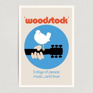"Woodstock Music Festival Vintage Art Print Poster 12"" x 18"" Wall Art VM2099"