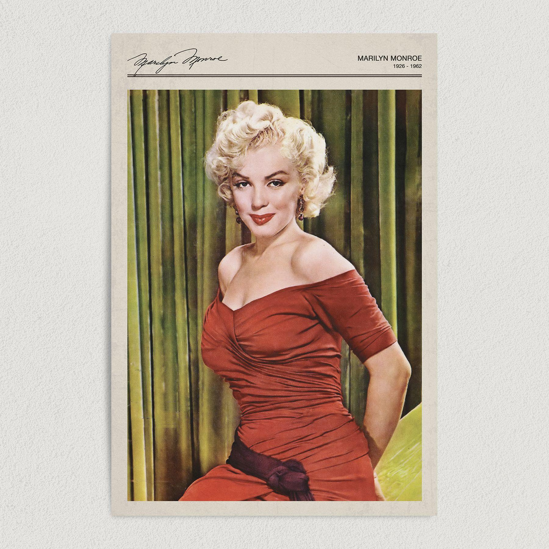 Marilyn Monroe Vintage Portrait Art Print Poster 12″ x 18″ Wall Art WH1000