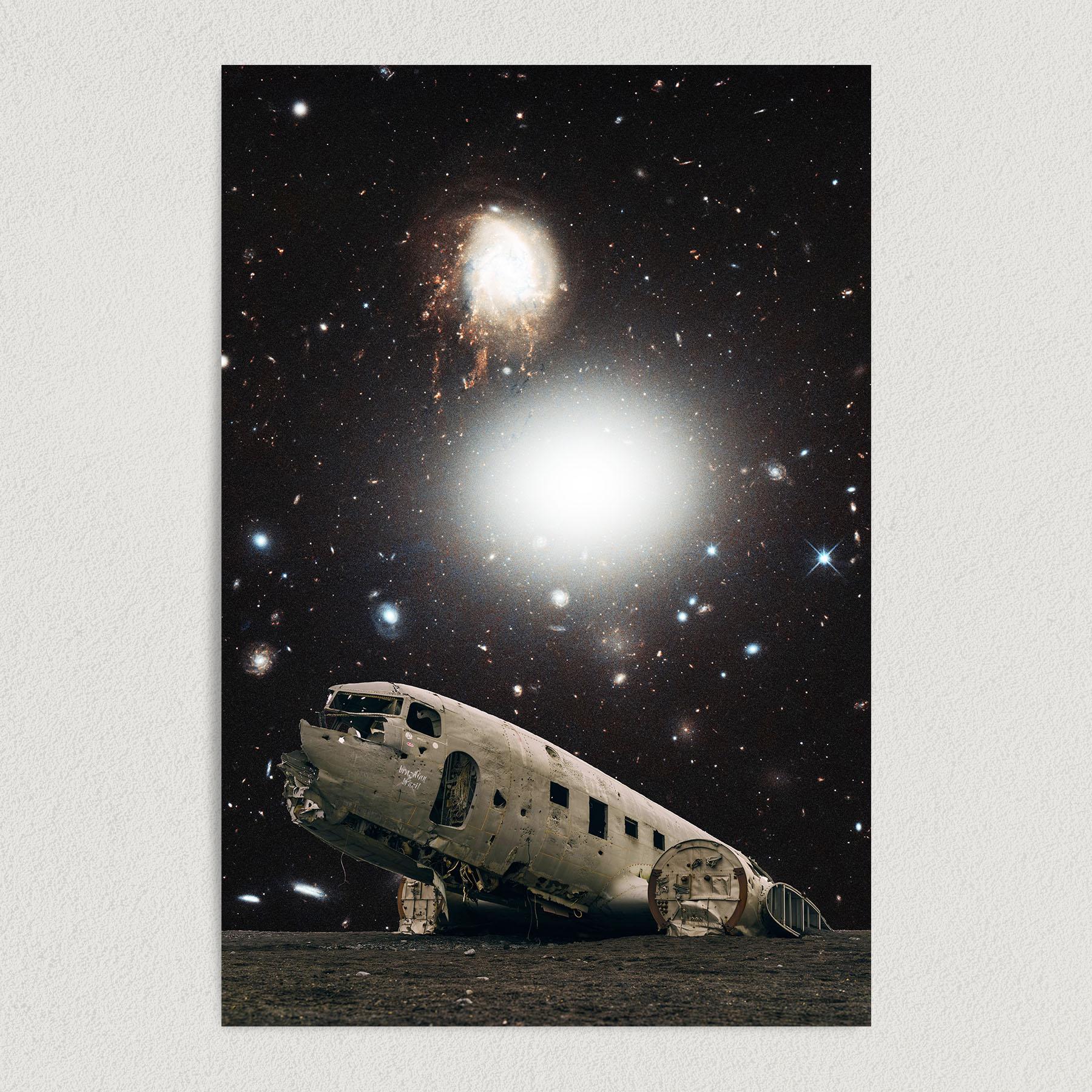 Plane Crash In the Desert Art Print Poster S1015