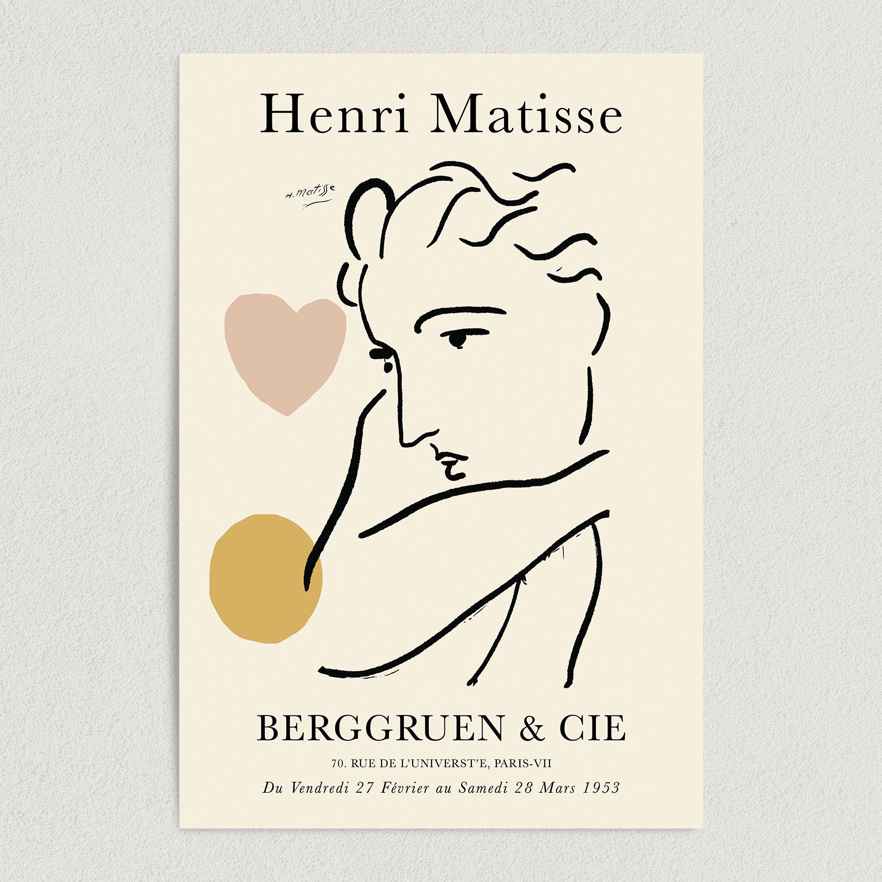 Henri Matisse Berggruen and Cie Art Print Poster 12″ x 18″ Wall Art AA2151