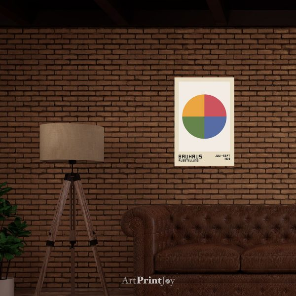 bauhaus circle art print poster real world template