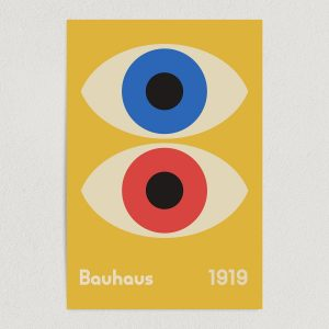 bauhaus double eye print poster featured image