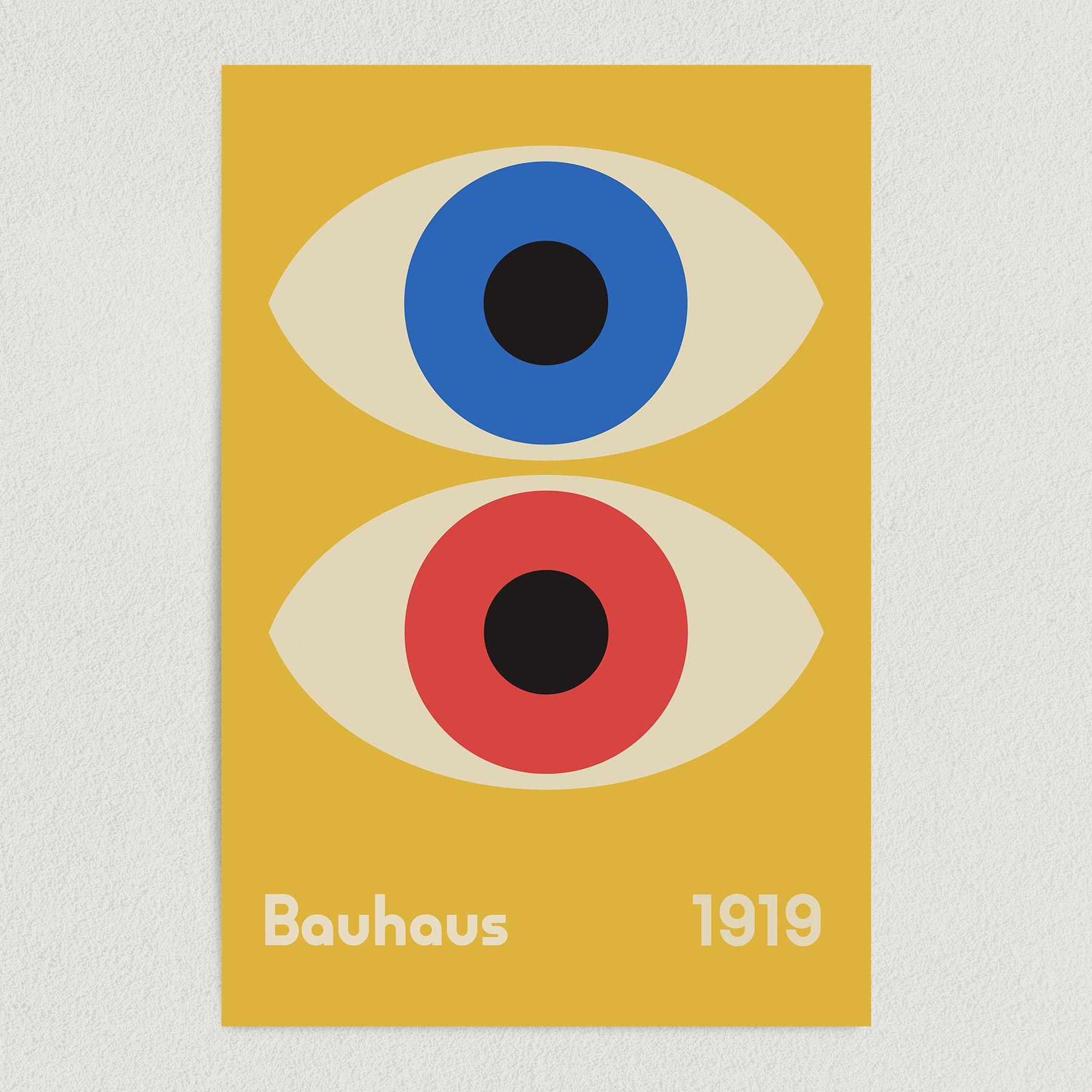 Bauhaus Double Eye Art Print Poster 12″ x 18″ Wall Art AI3344