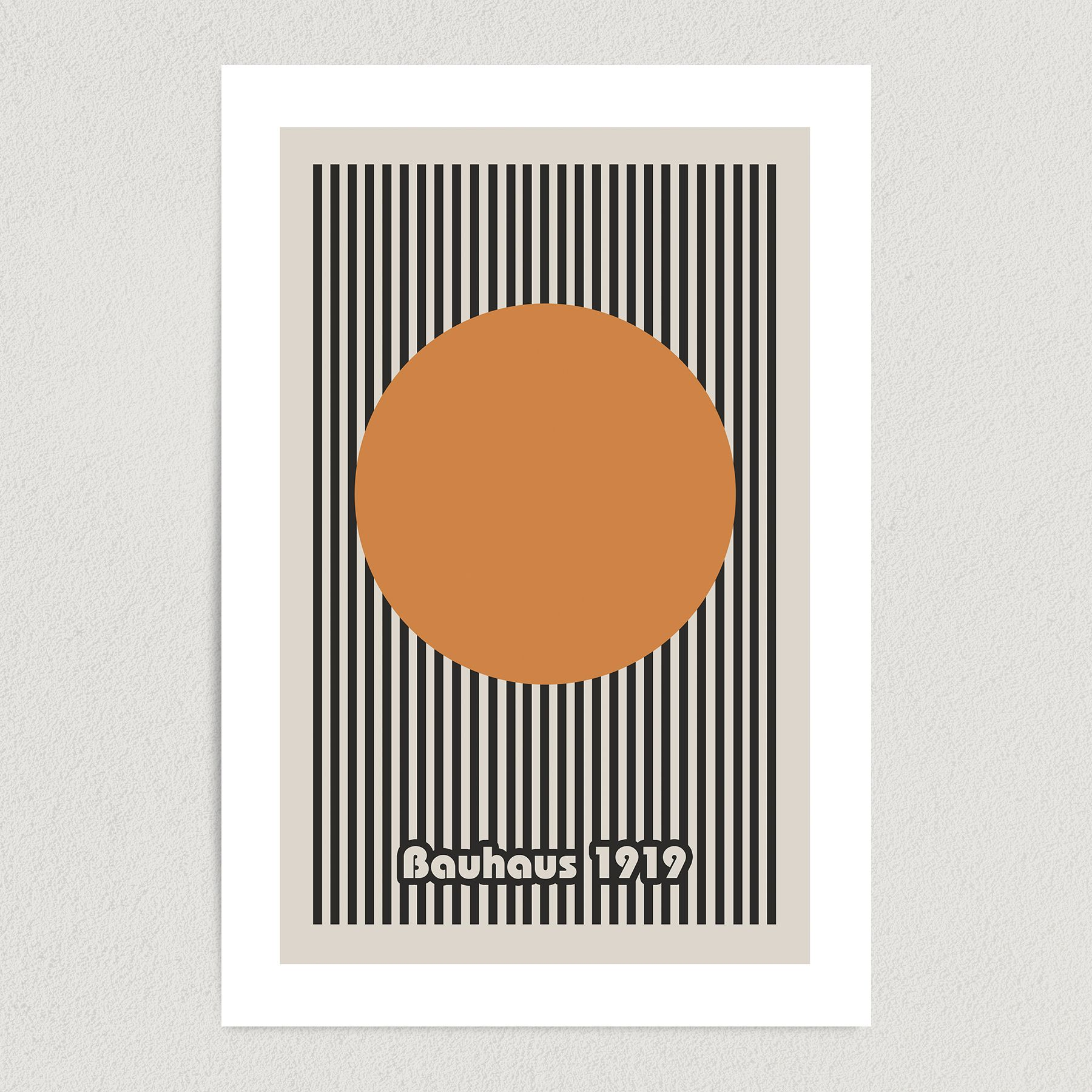 Bauhaus 1919 Art Print Poster 12″ x 18″ Wall Art AI3396