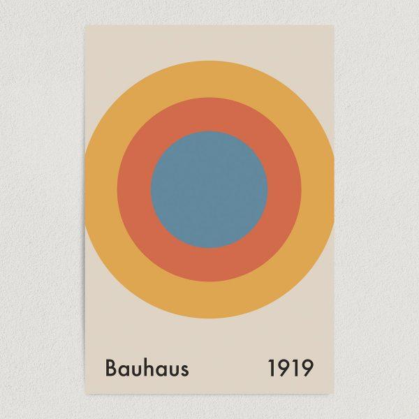 bauhaus architect 1919 art print poster featured Image