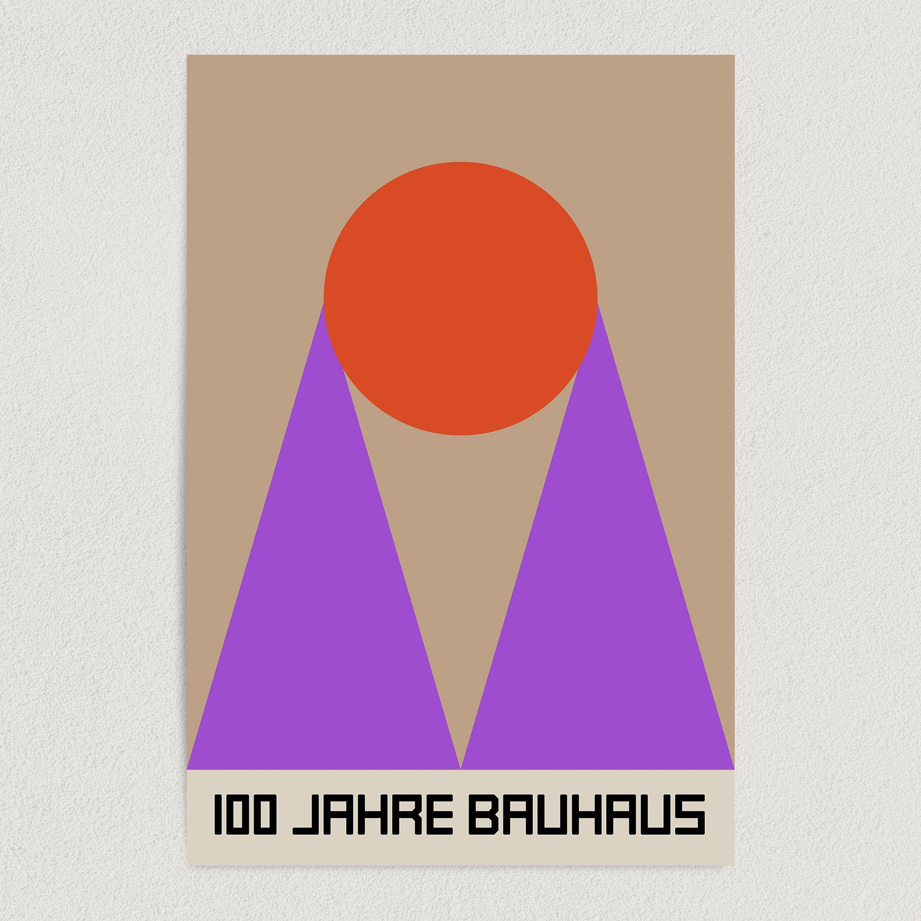 Bauhaus Retro Art Print Poster 12″ x 18″ Wall Art AI3399
