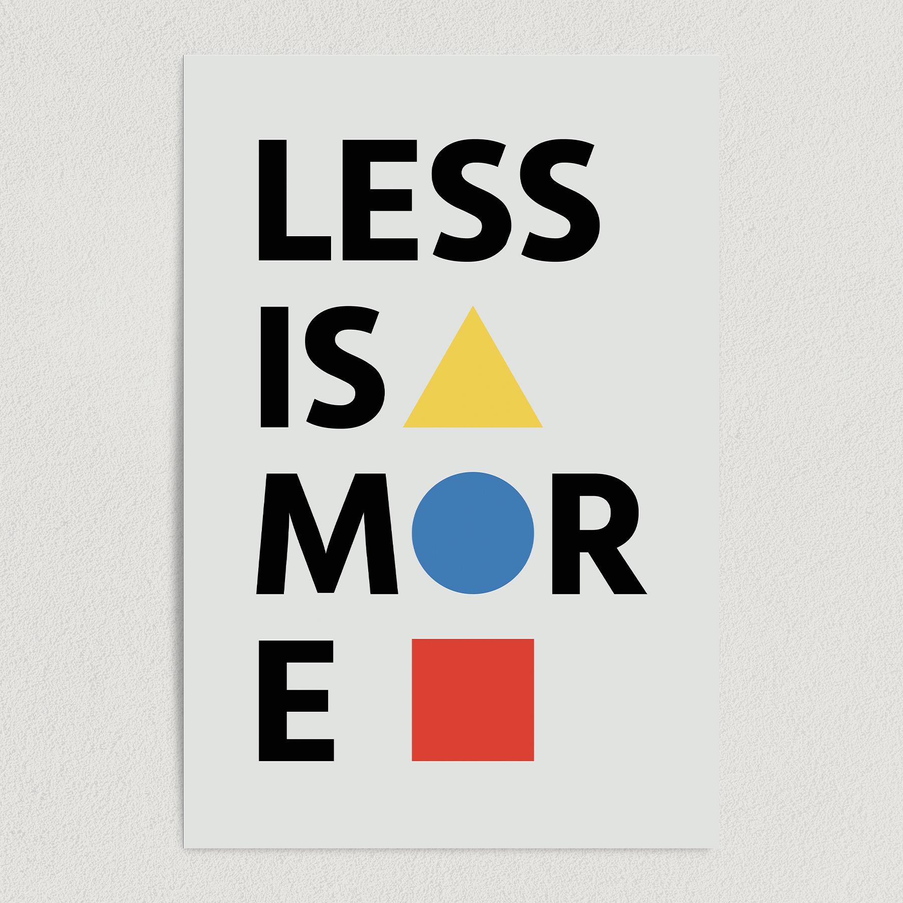 Bauhaus Less Is More Art Print Poster 12″ x 18″ Wall Art AI3400