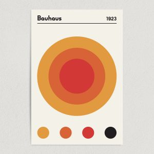 Bauhaus 1923 Earth Red and Orange Art Print Poster Featured Image