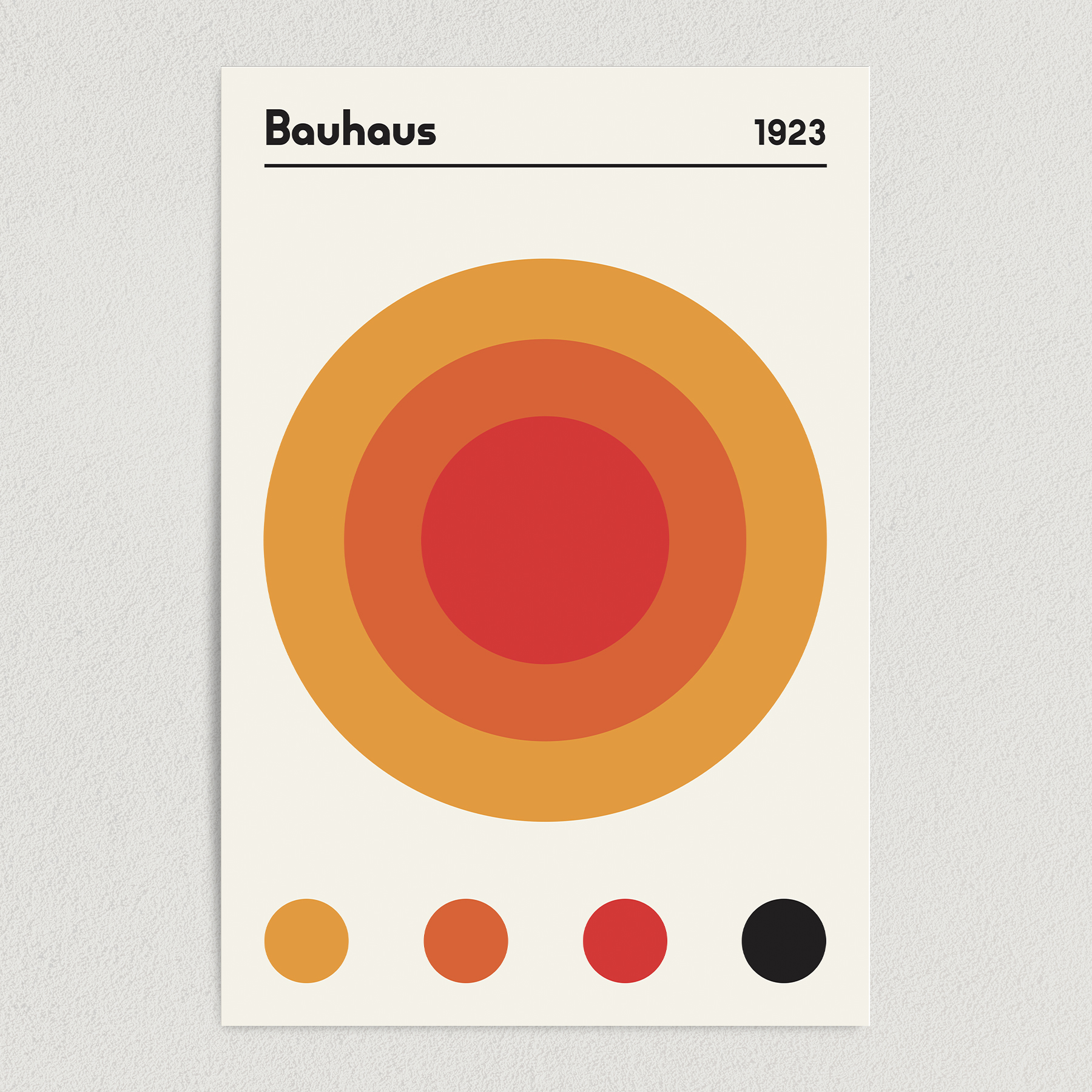 Bauhaus 1923 Earth Red Art Print Poster 12″ x 18″ Wall Art AI3401