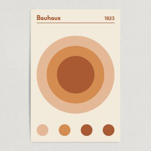 Bauhaus 1923 Earth Brown Art Print Poster Featured Image