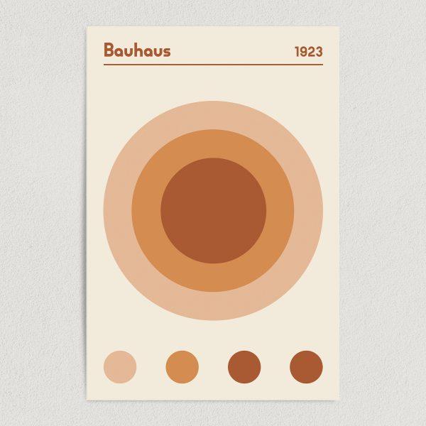Bauhaus 1923 Earth Brown Art Print Poster Featured Image