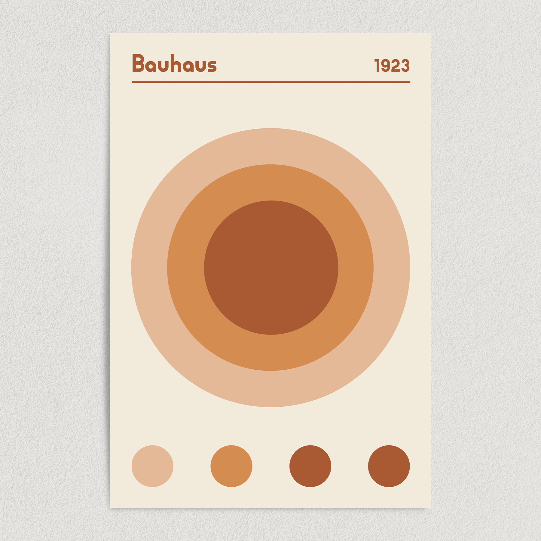 Bauhaus 1923 Earth Brown Art Print Poster 12″ x 18″ Wall Art AI3402