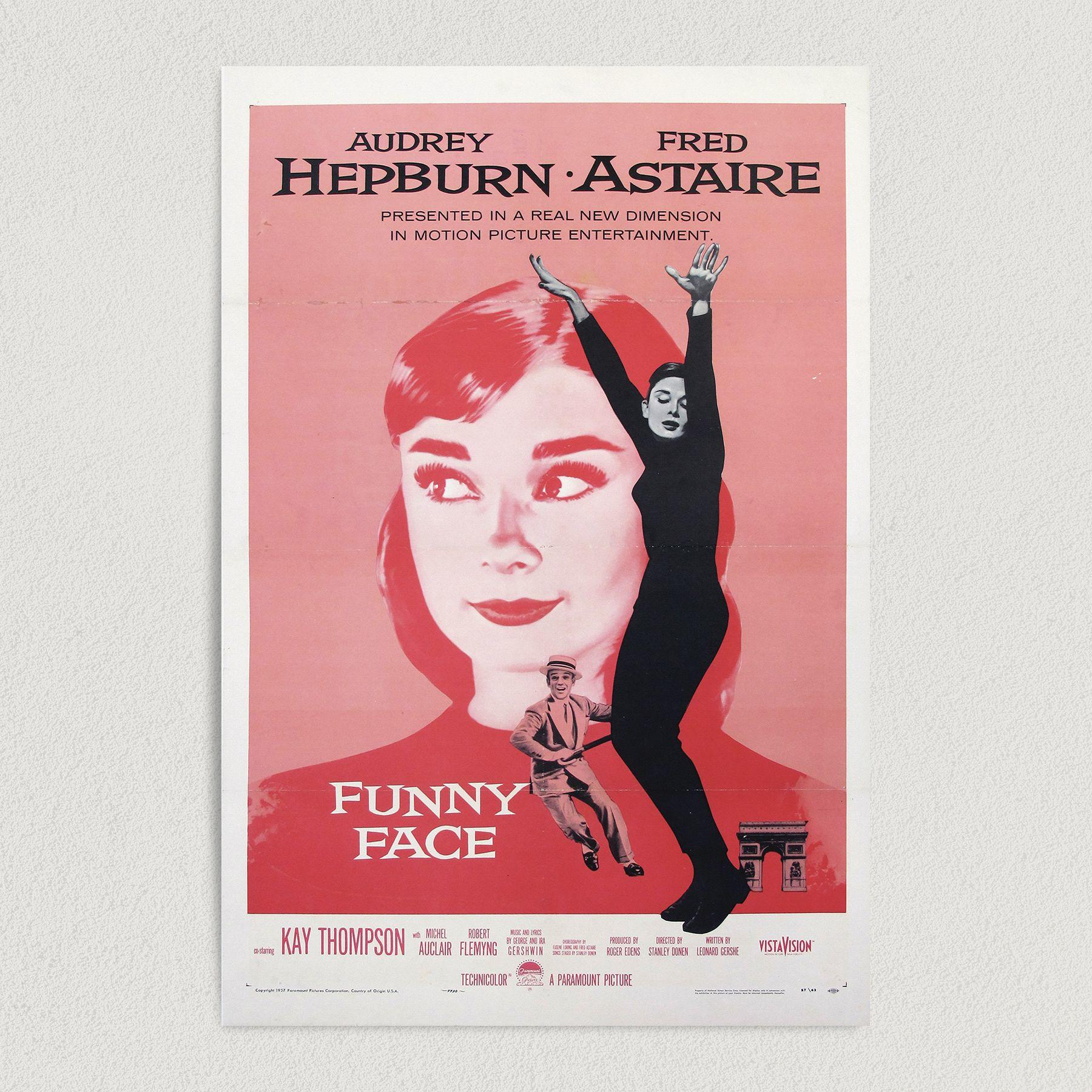 Audrey Hepburn Funny Face Movie Art Print Poster M1004