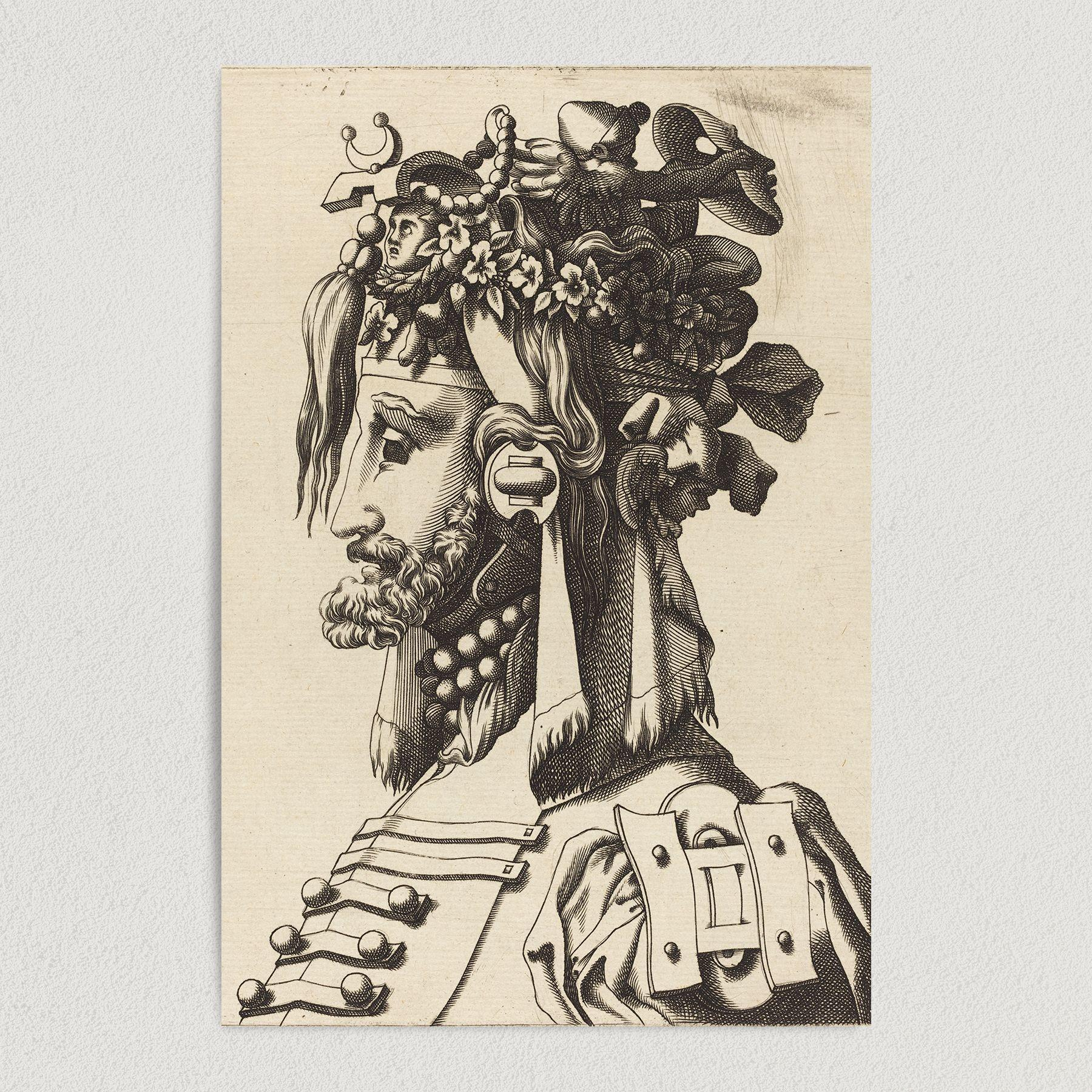 Bust of Man From the 1600s Art Print Poster EA1000