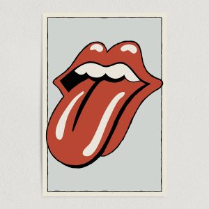the rolling stones iconic lips logo minimalist art print poster 12x18 wall art