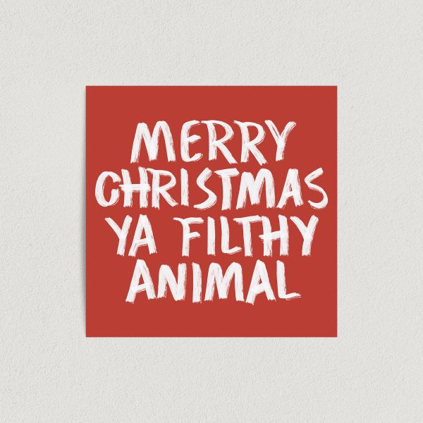 Merry Christmas Ya Filthy Animal Home Alone Art Print Poster Featured Image