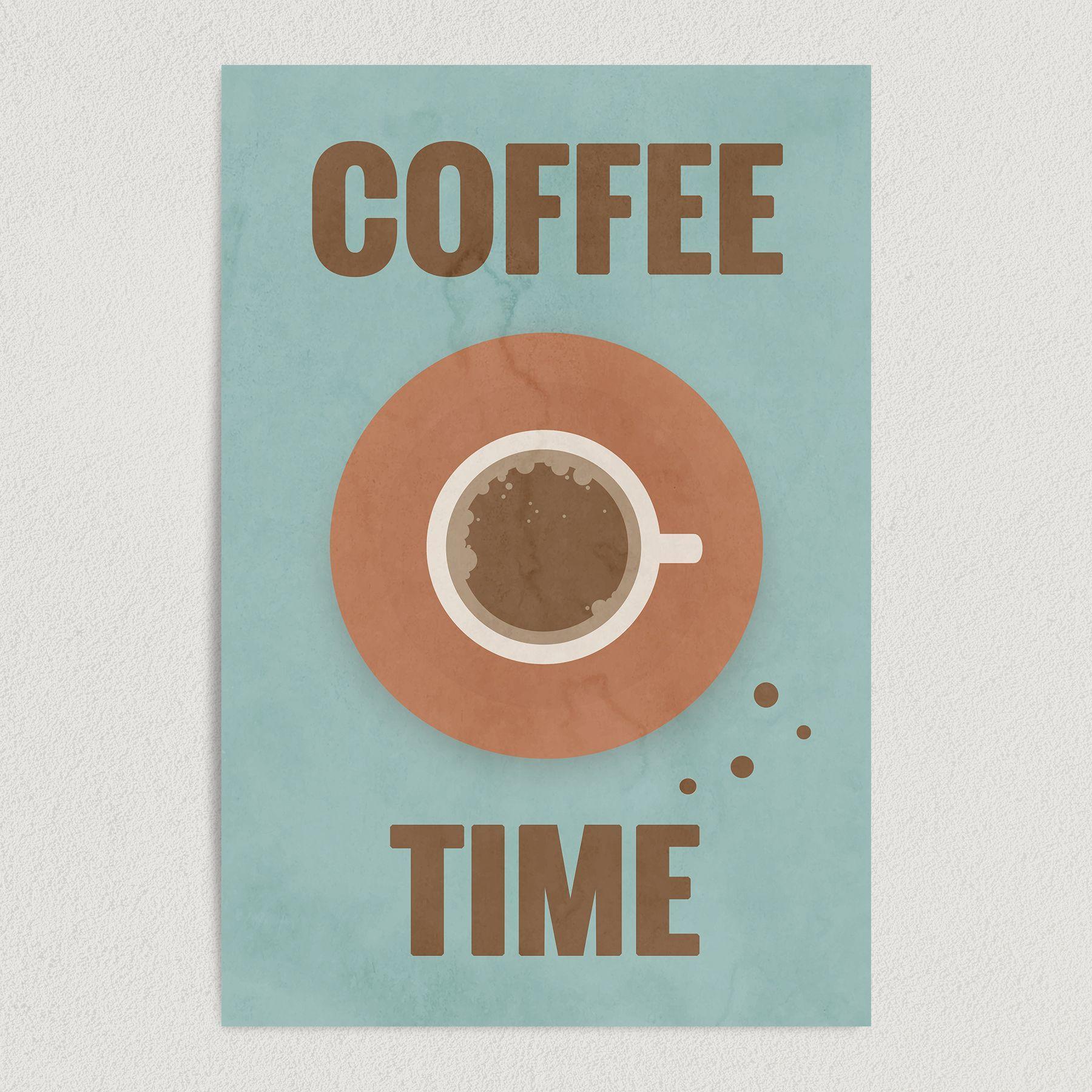 Coffee Time Art Print Poster 12″ x 18″ Wall Art FB1000