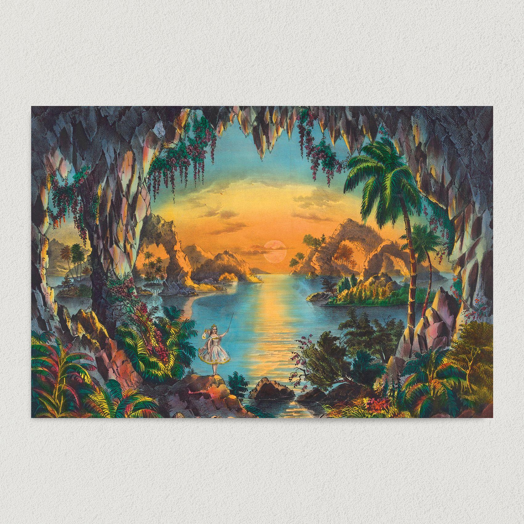 Fairy Grotto Art Print Poster 18″ x 12″ Wall Art CP2310