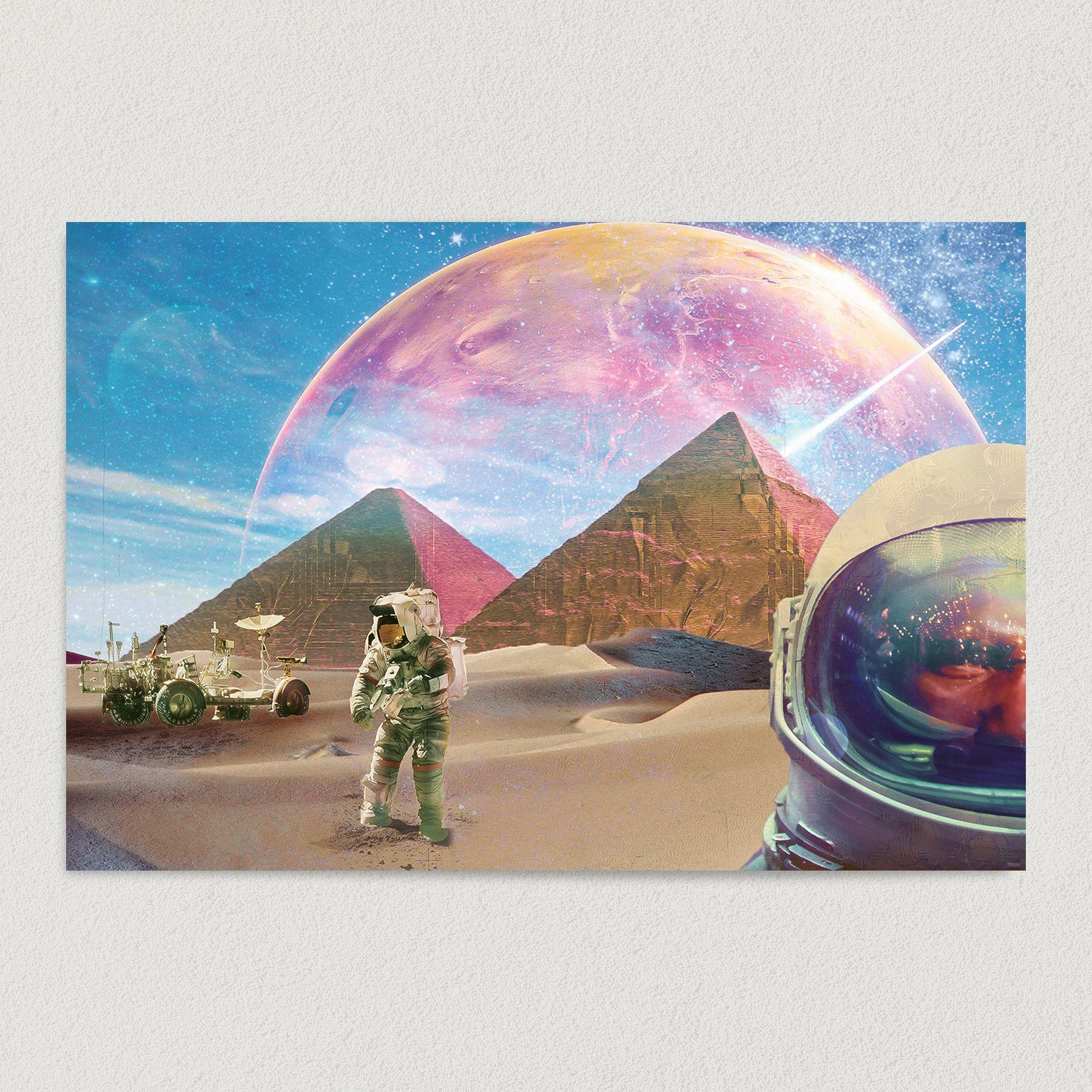 Exploring Other Dimensions Space Men Art Print Poster S1010