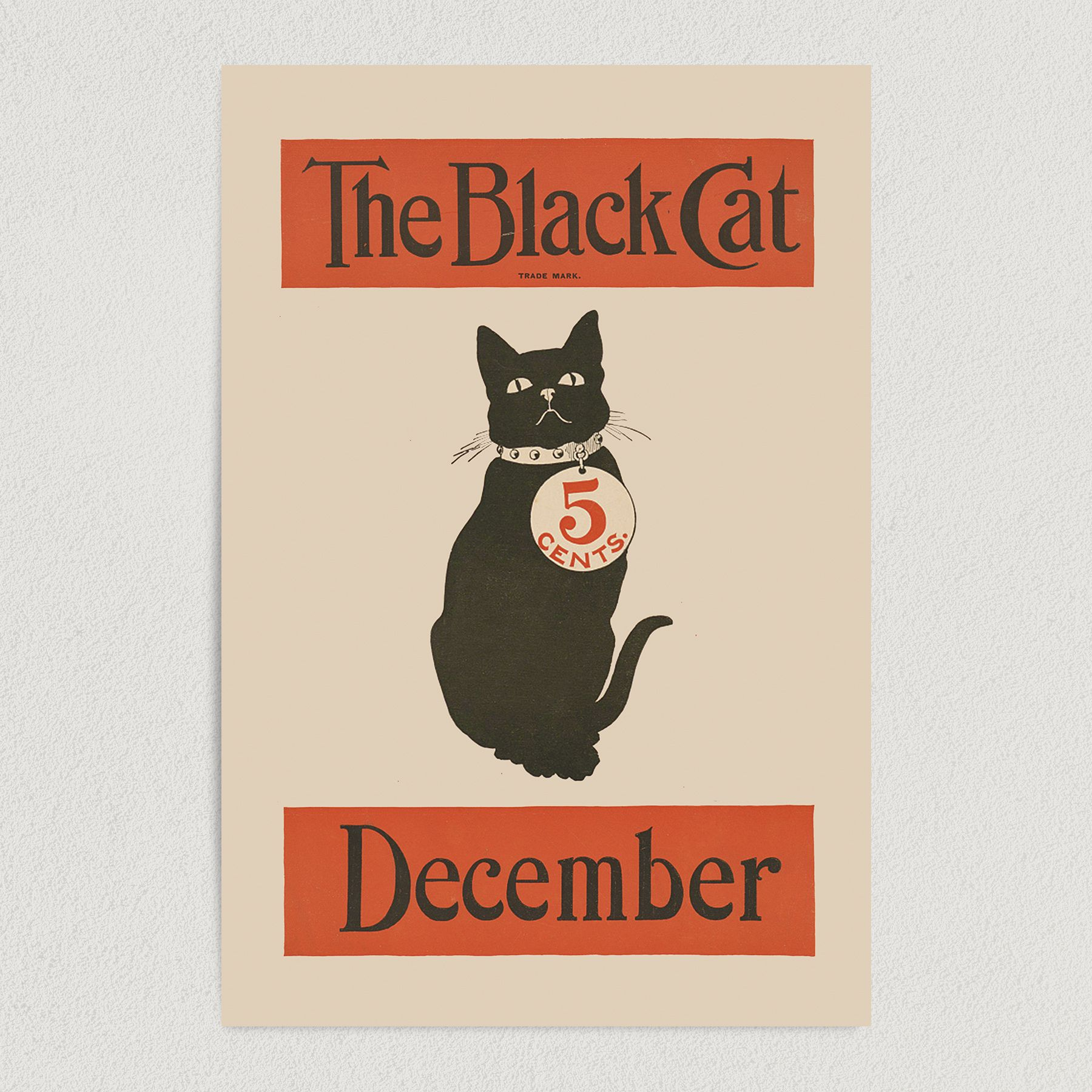 Black Cat December Issue Art Print Poster 12″ x 18″ Wall Art FE3174