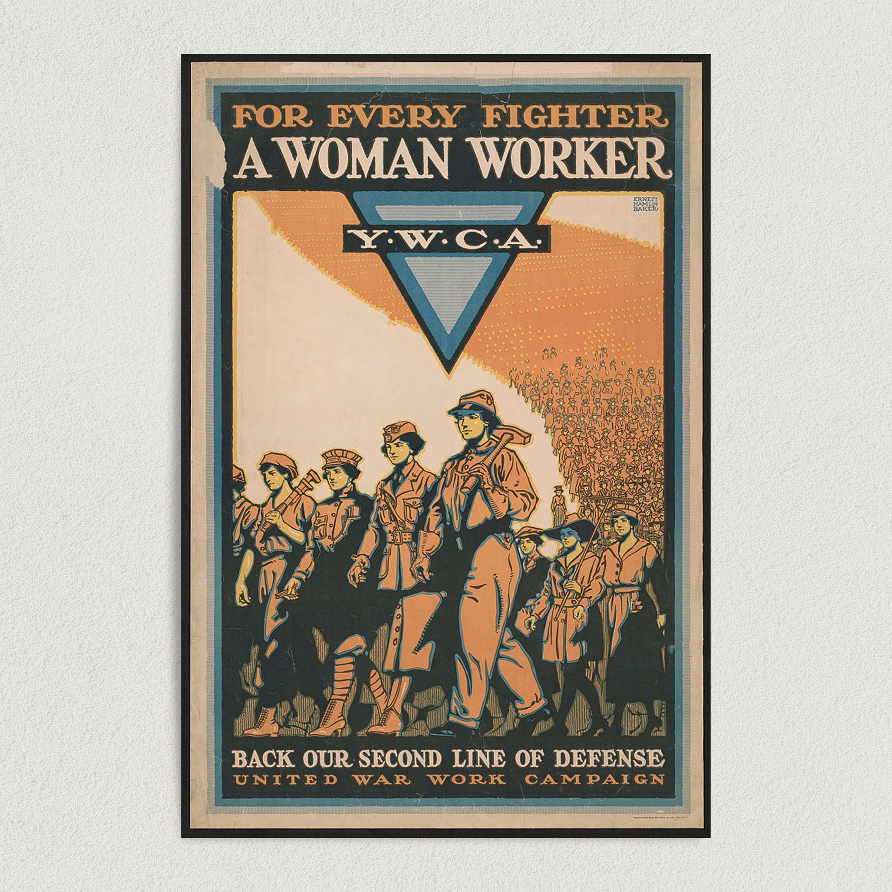 World War 2 Woman Worker U.S. Army Women Empowerment Art Print Poster 12″ x 18″ Wall Art G1000