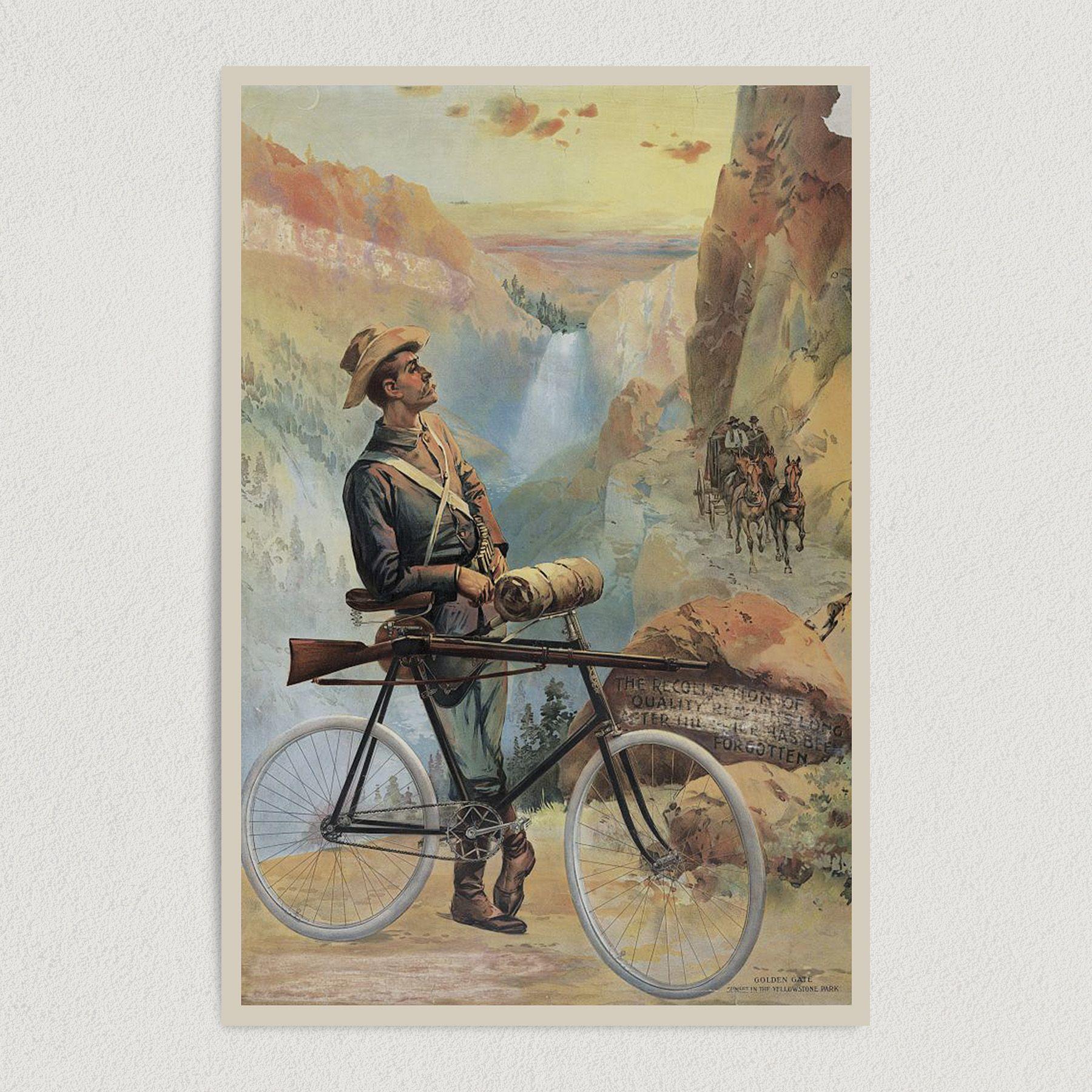 Forgotten Soldier Biker American Art Print Poster 12″ x 18″ Wall Art AM1000