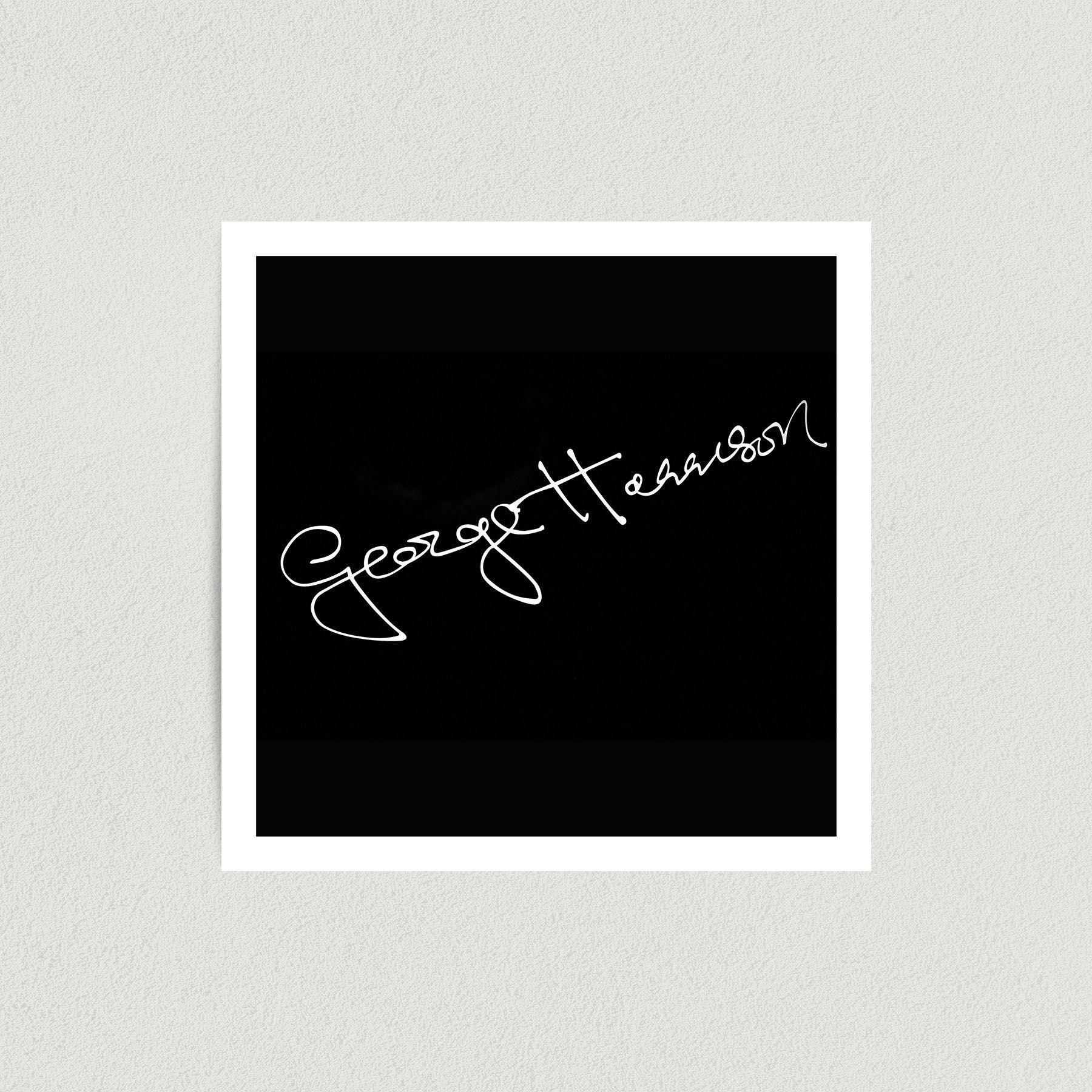 George Harrison Autograph Art Print Poster 12″ x 12″ Wall Art FP3143