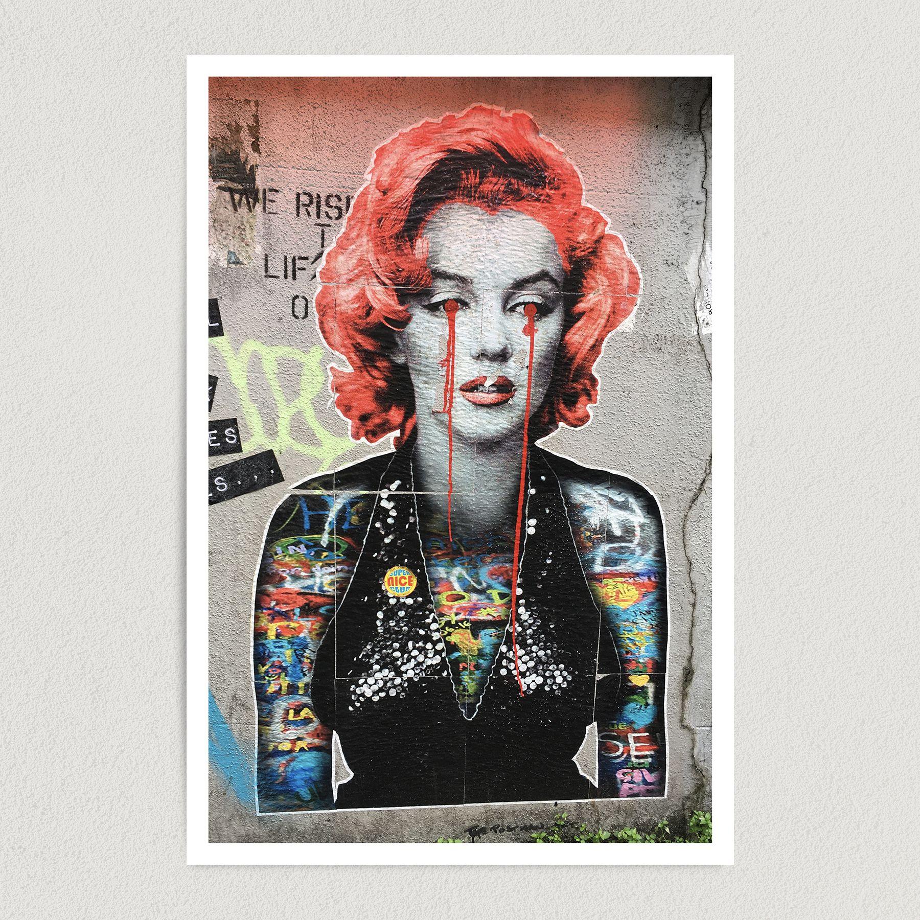 Marilyn Monroe Graffiti Art Print Poster 12″ x 18″ Wall Art FP3168