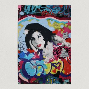 amy winehouse graffiti art print poster featured image