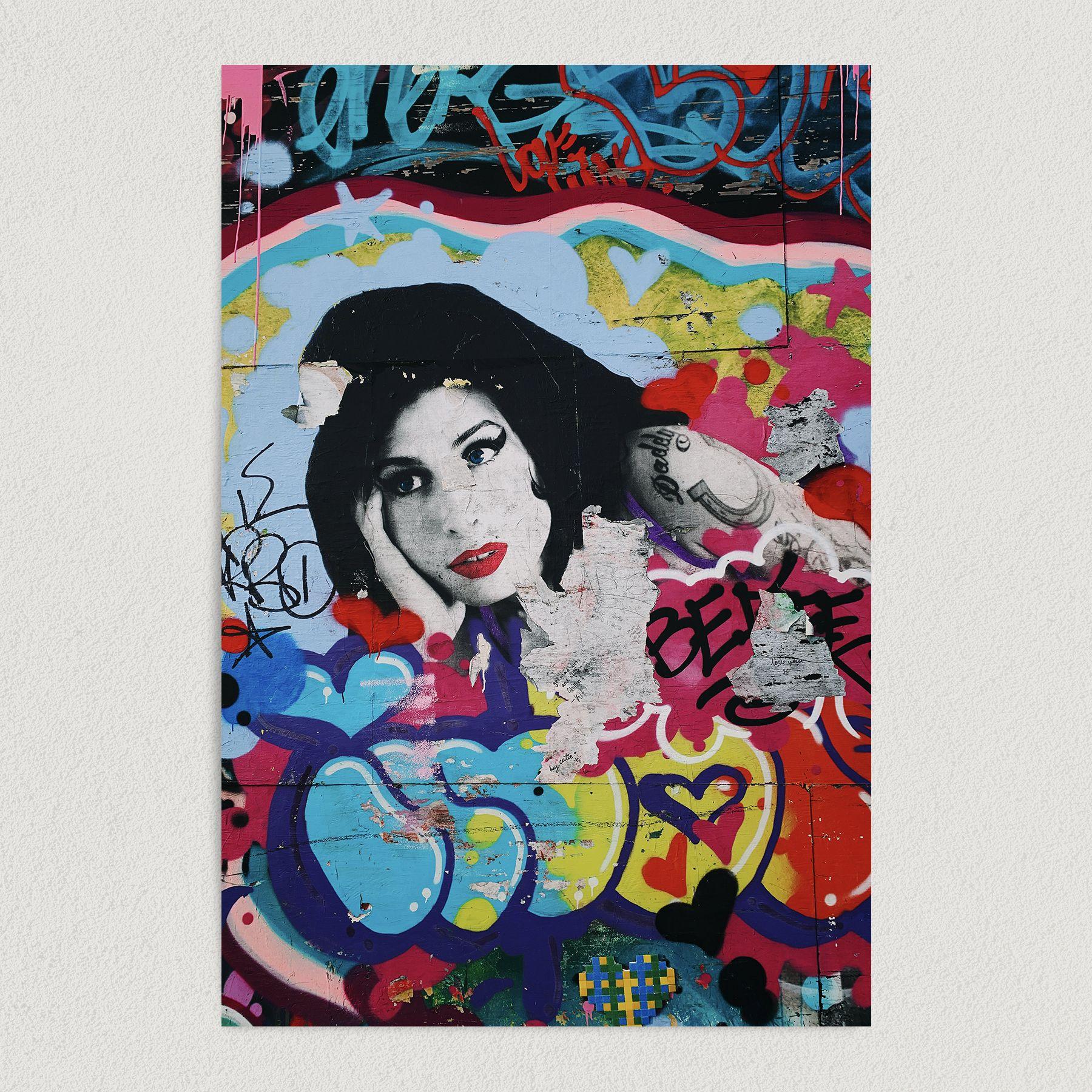 Amy Winehouse Graffiti Art Print Poster 12″ x 18″ Wall Art FP3172