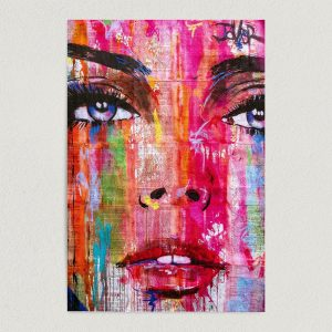 woman face graffiti art print poster featured image