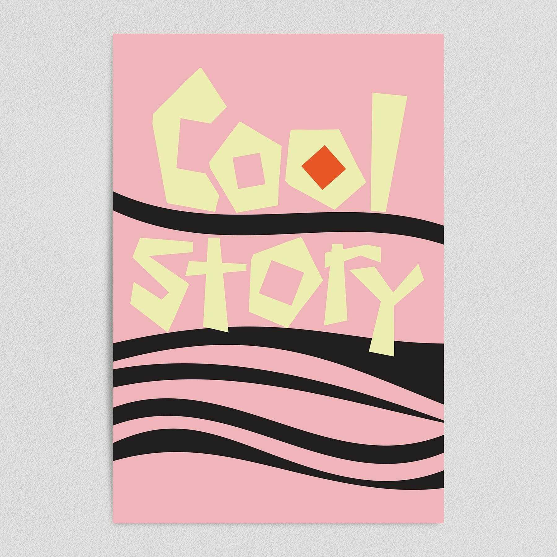 Cool Story Retro College Humor Art Print Poster 12″ x 18″ Wall Art FQ1010