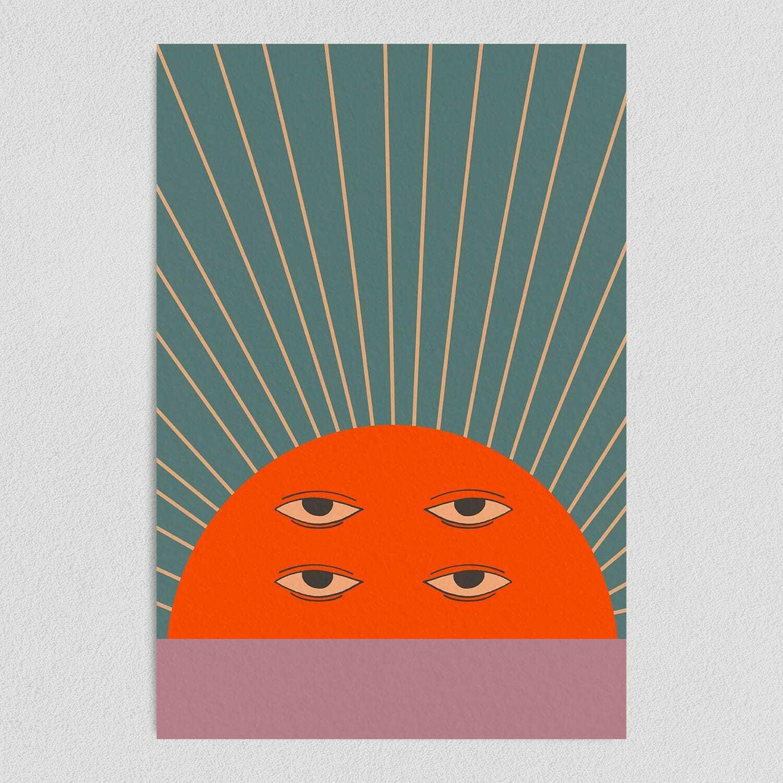 Good Morning Sunrise Art Print Poster 12″ x 18″ N1130