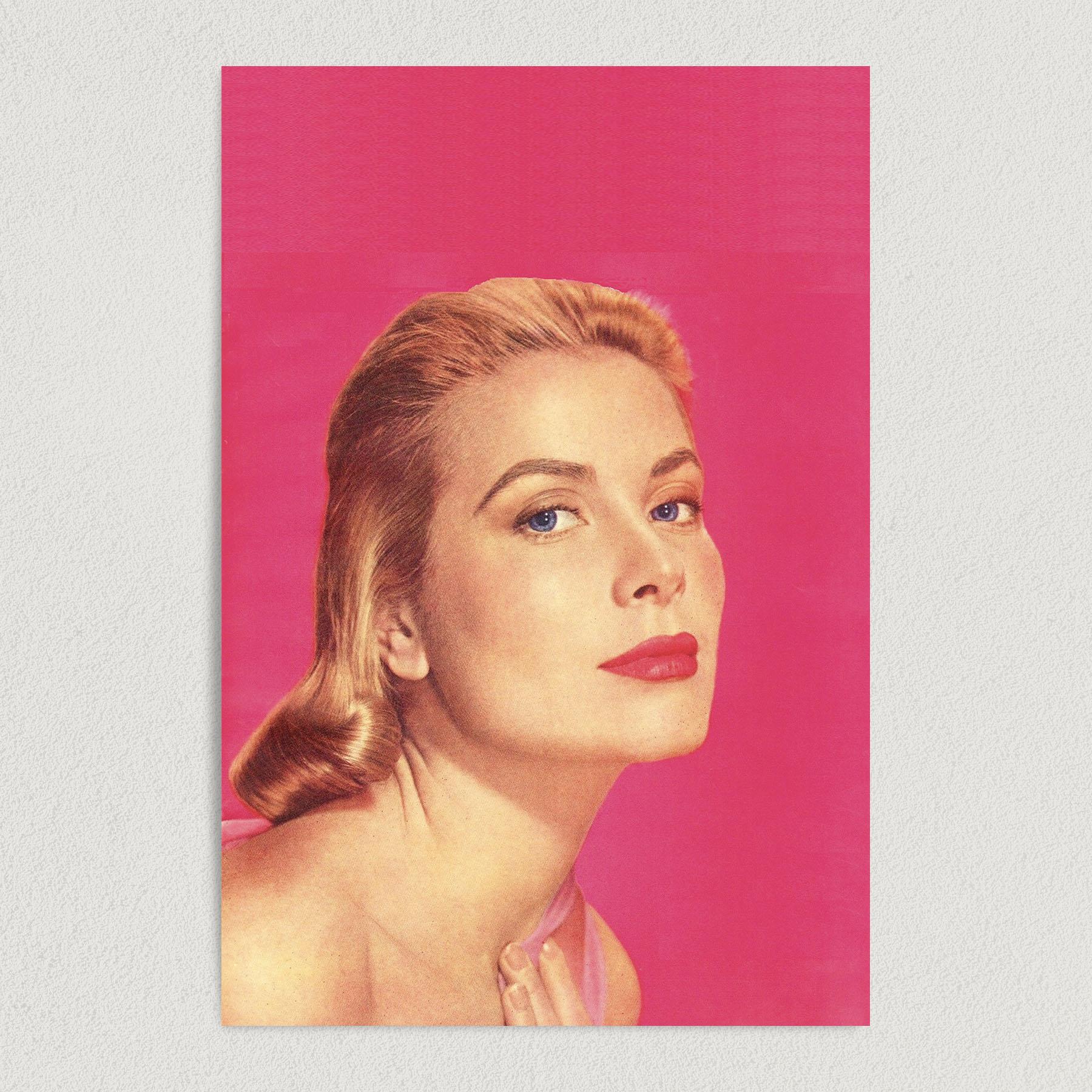 Grace Kelly Portrait Art Print Poster 12″ x 18″ Wall Art HW1000