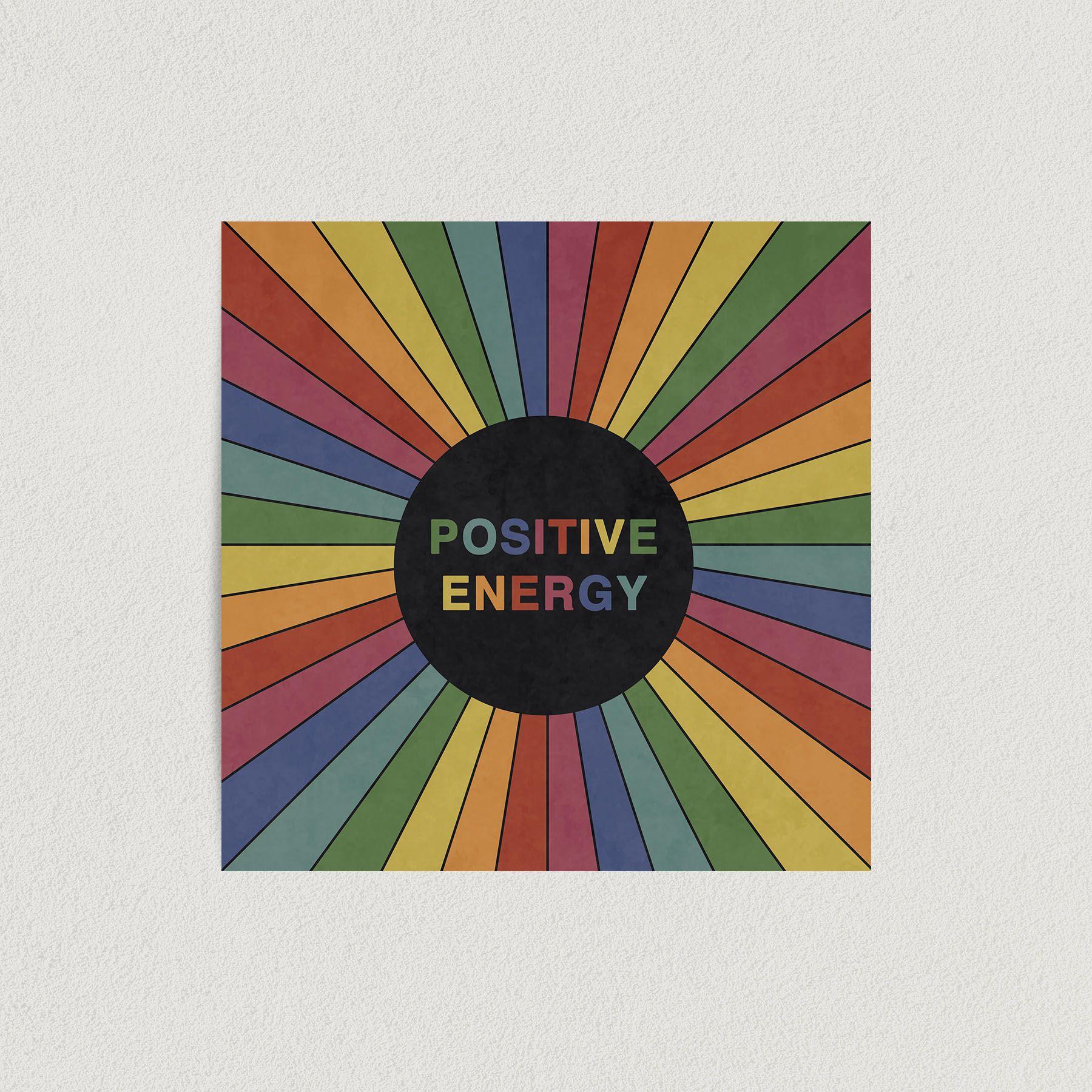 Positive Energy Rainbow Art Print Poster 12″ x 12″ Wall Art HI3140