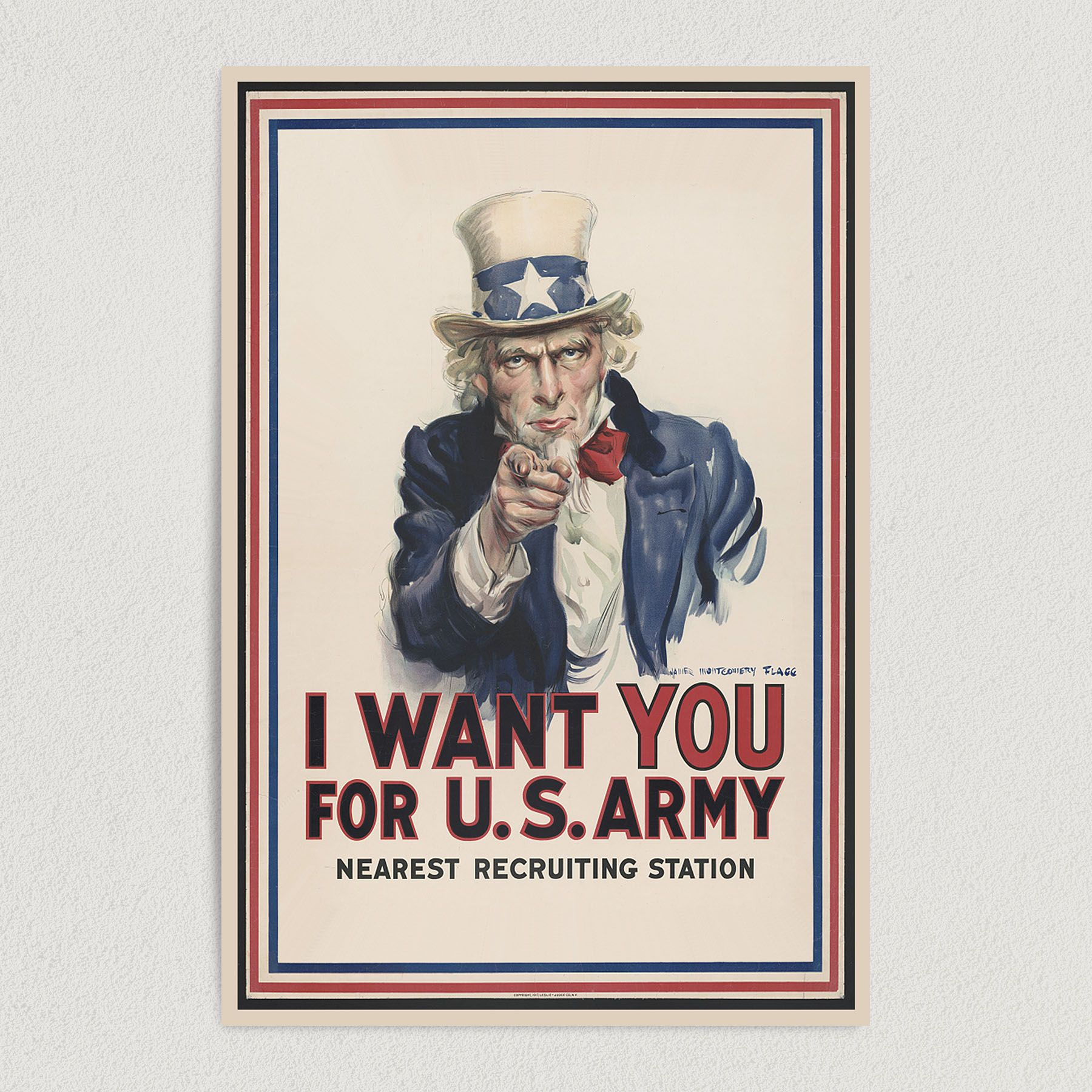 I Want You Uncle Sam US Army Recruitment Art Print Poster 12″ x 18″ Wall Art G1002