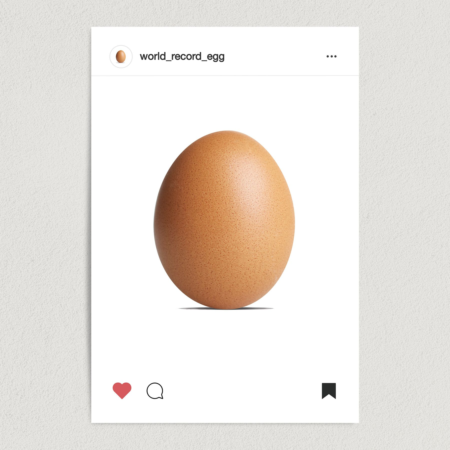 Very Normal Egg Official Instagram Art Print Poster 12″ x 18″ Wall Art PC1003