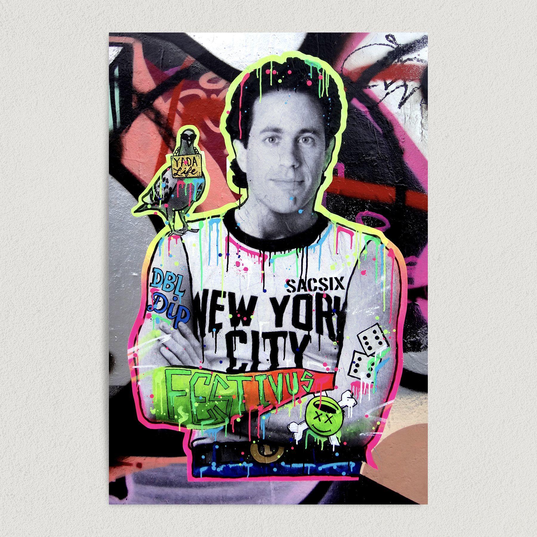 Jerry Seinfeld Neon Festivus Art Print Poster 12″ x 18″ Wall Art H1004