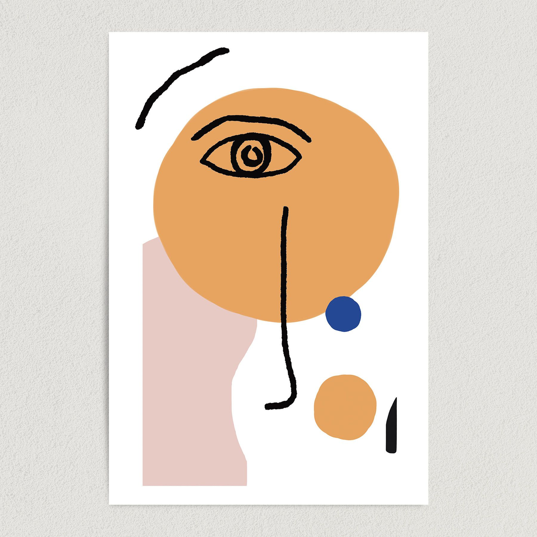Henri Matisse Style Line Drawing Face Art Print Poster 12″ x 18″ Wall Art LAC1018
