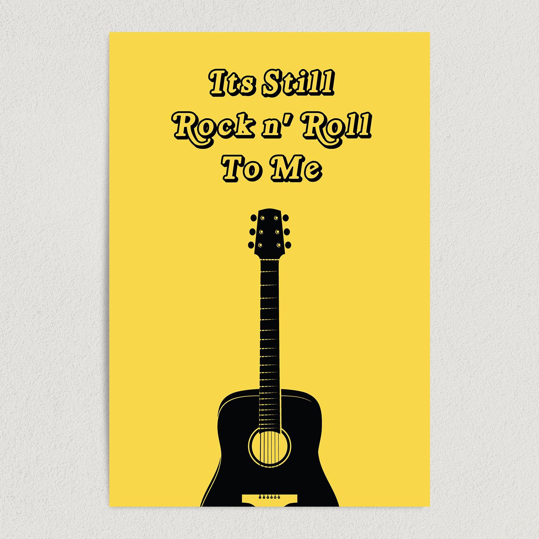 Billy Joel It's Still Rock N' Roll To Me Lyrics Art Print Poster 12″ x 18″ Wall Art M1000