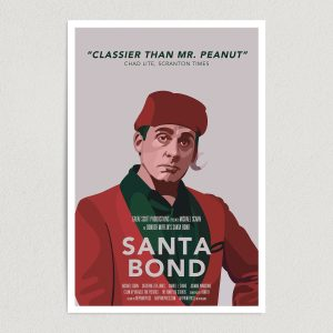 Santa Bond Michael Scarn Art Print Poster Featured Image