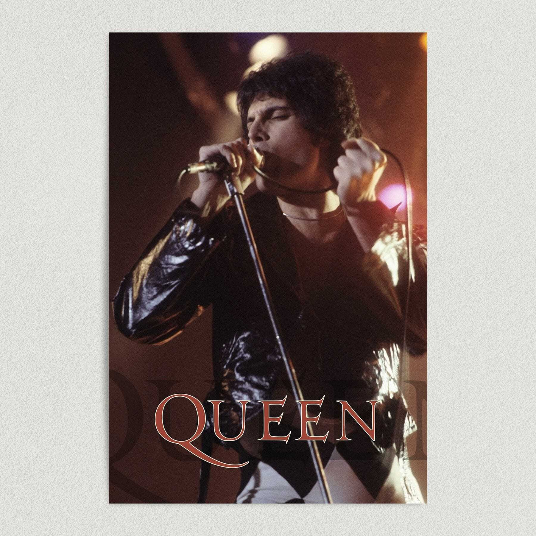 Freddie Mercury Performing With Queen Band Art Print Poster 12″ x 18″ Wall Art MB1000
