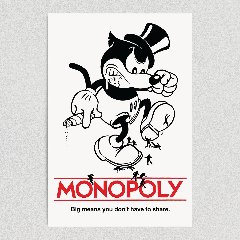 Mickey Monopoly Art Print Poster 12″ X 18″ Wall Art P1130